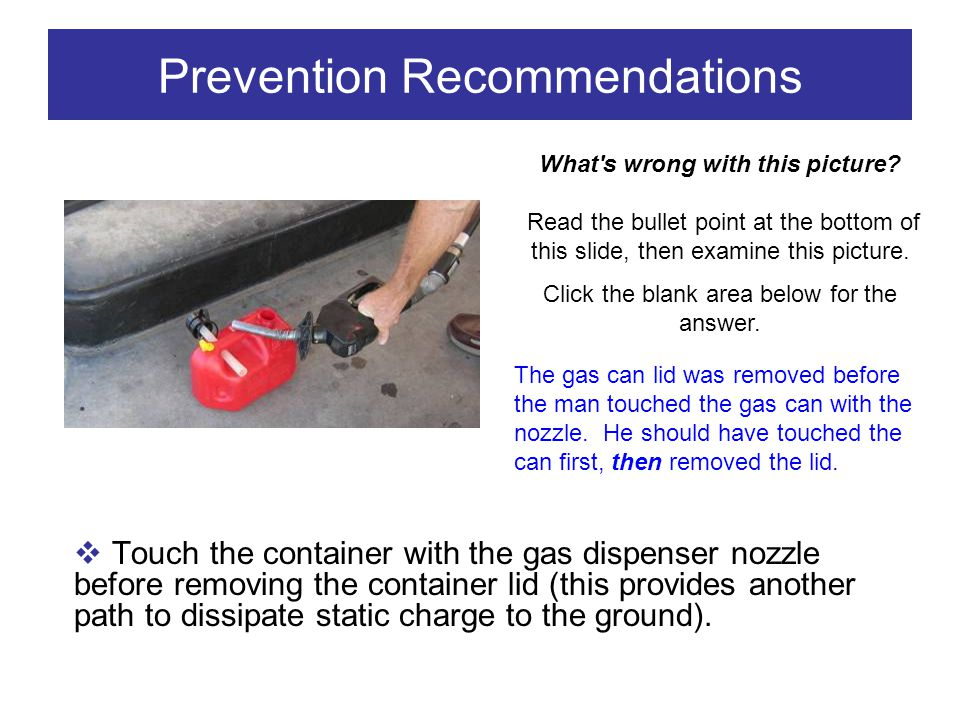 Prevention Recommendations