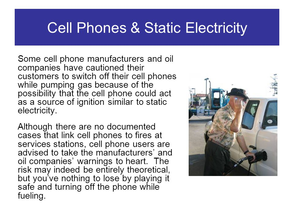 Cell Phones & Static Electricity