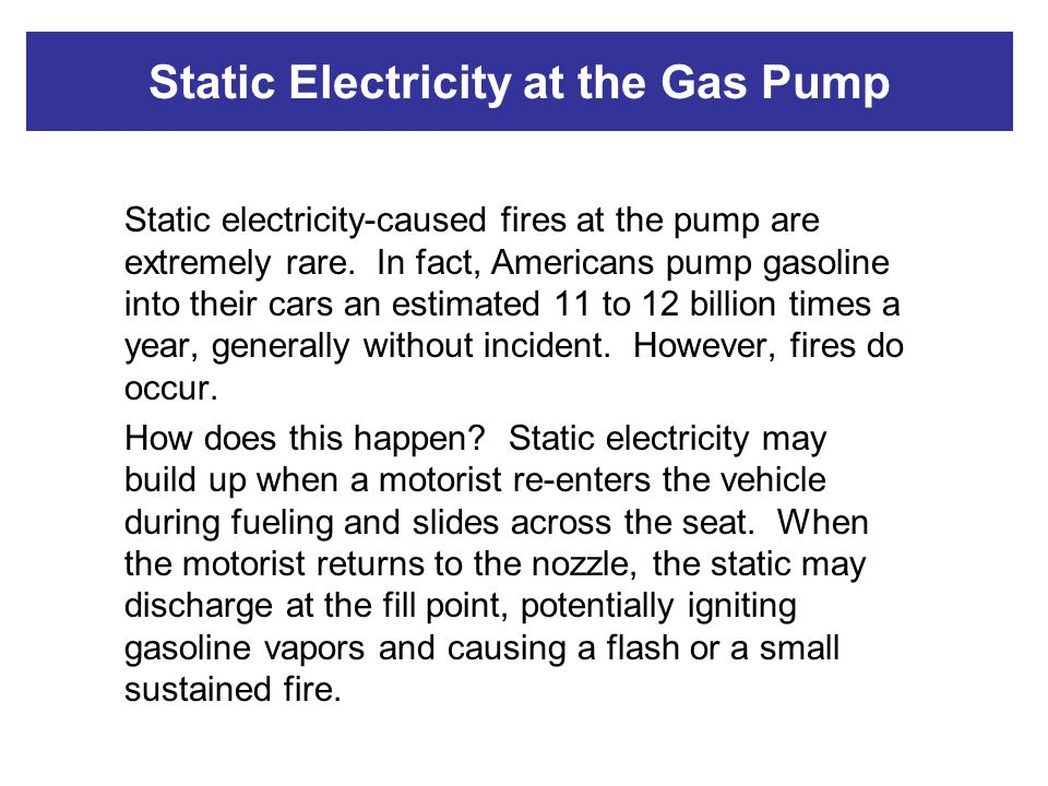Static Electricity at the Gas Pump