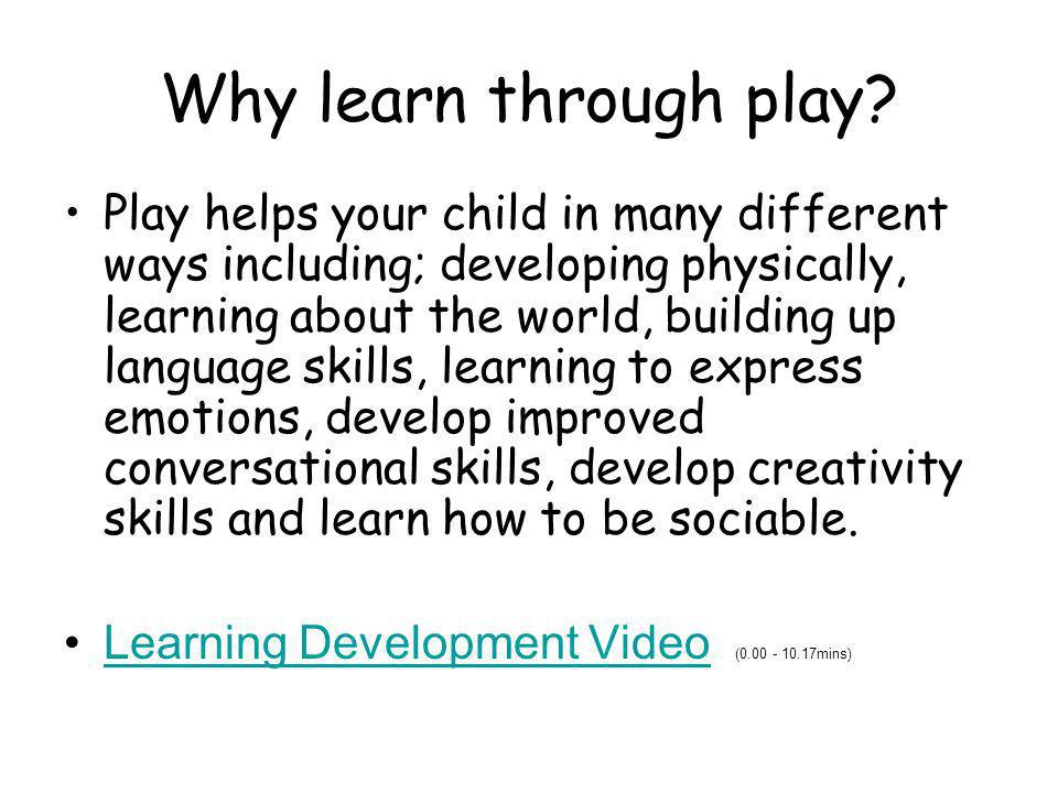 Why learn through play