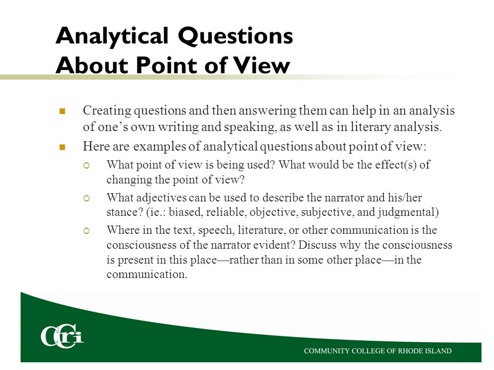 point of view essay example