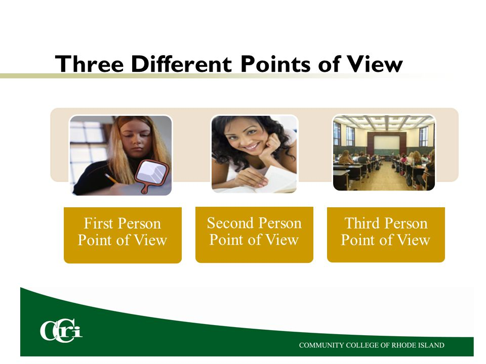 Three Different Points of View