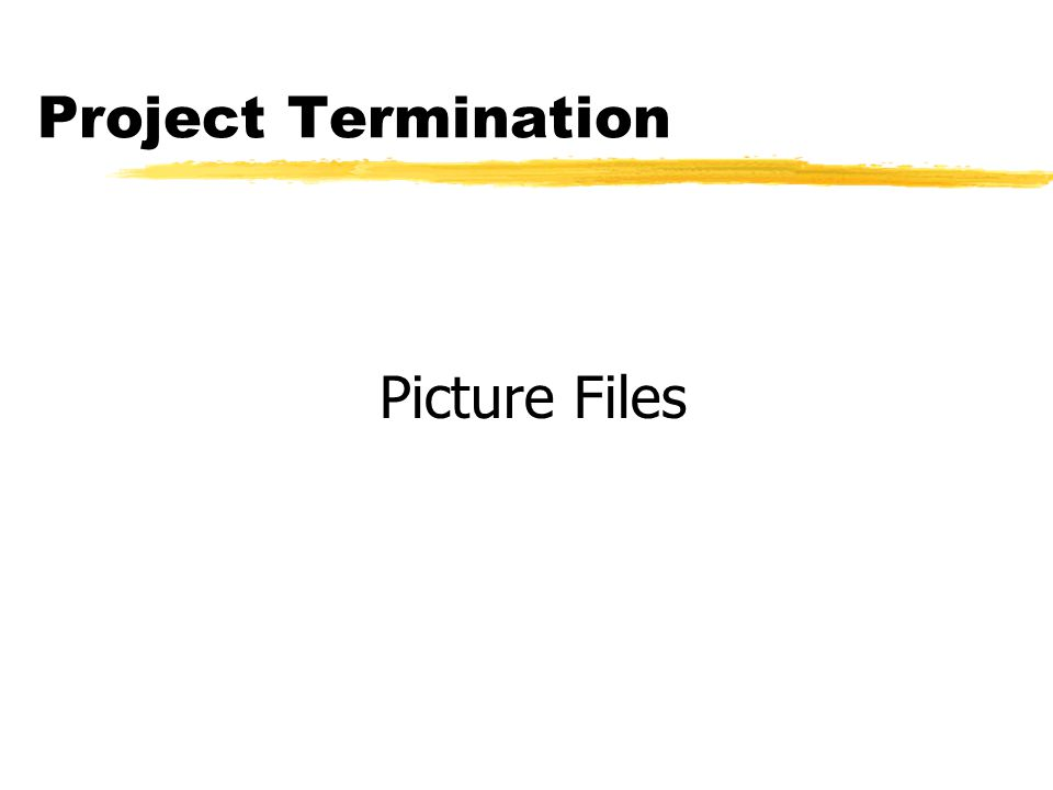 Project Termination Picture Files