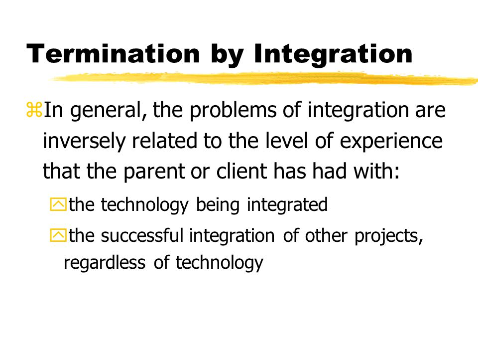 Termination by Integration