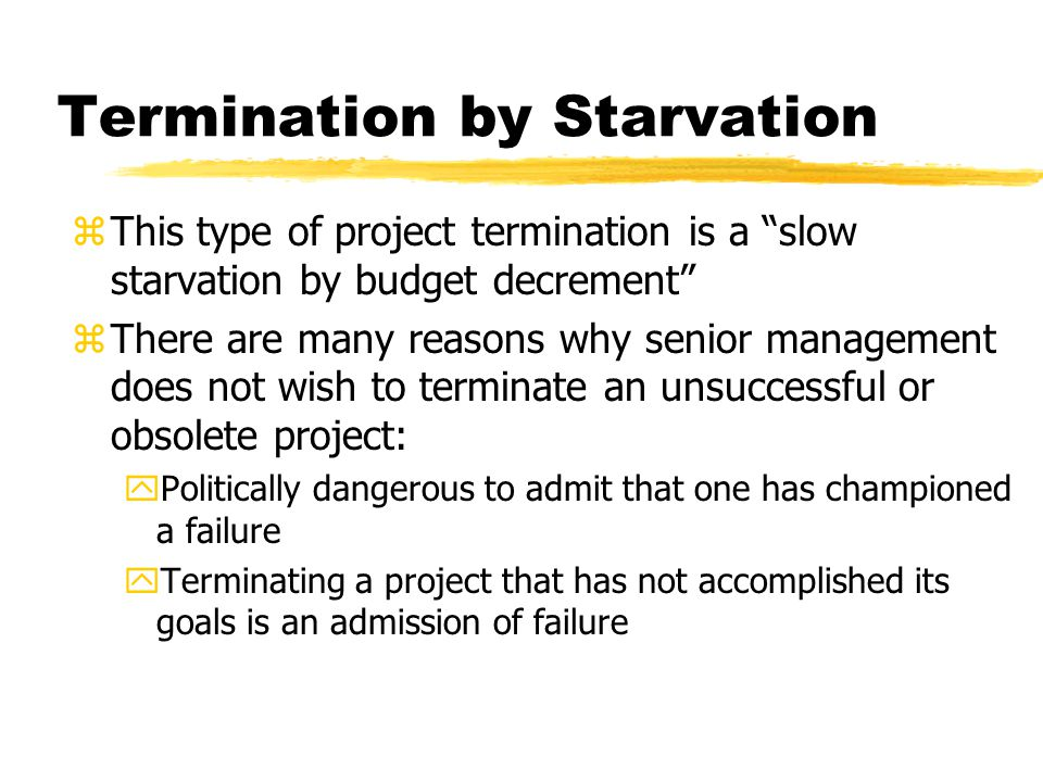 Termination by Starvation