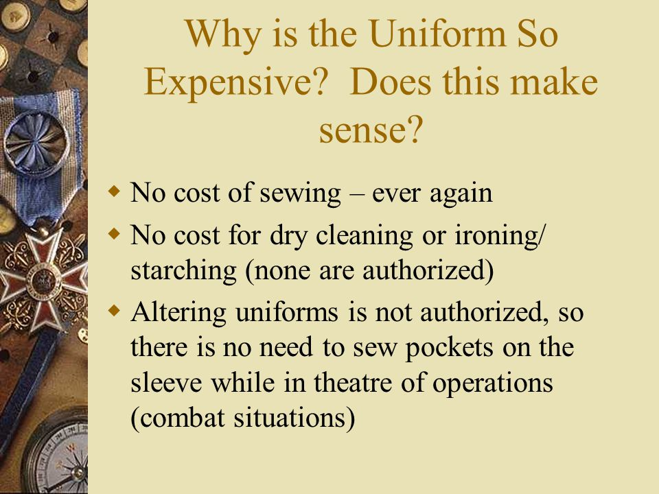 Why is the Uniform So Expensive Does this make sense