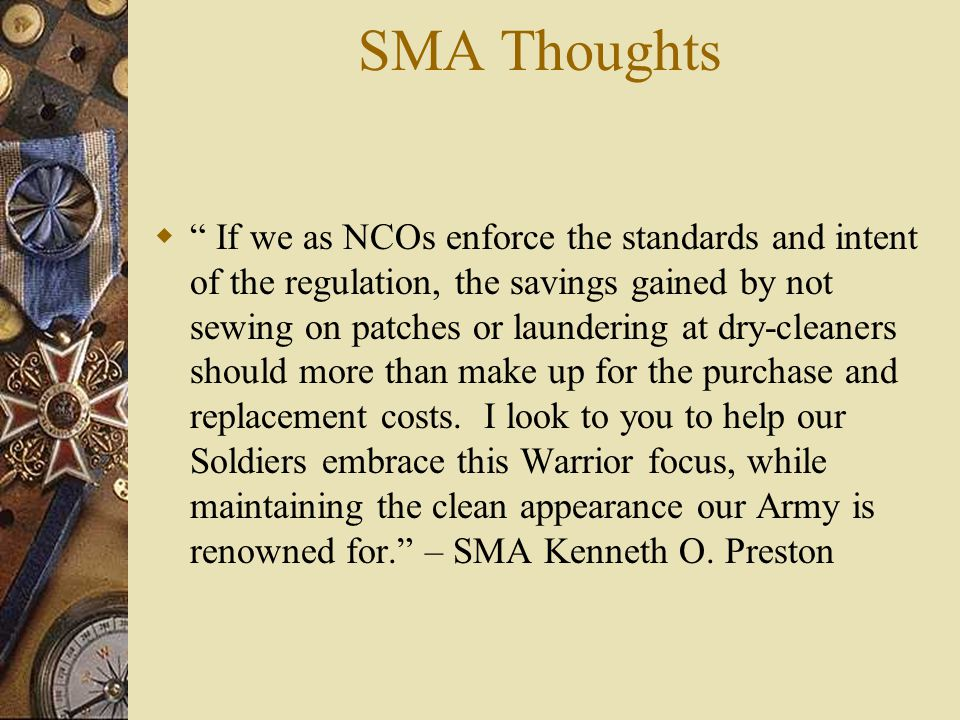 SMA Thoughts