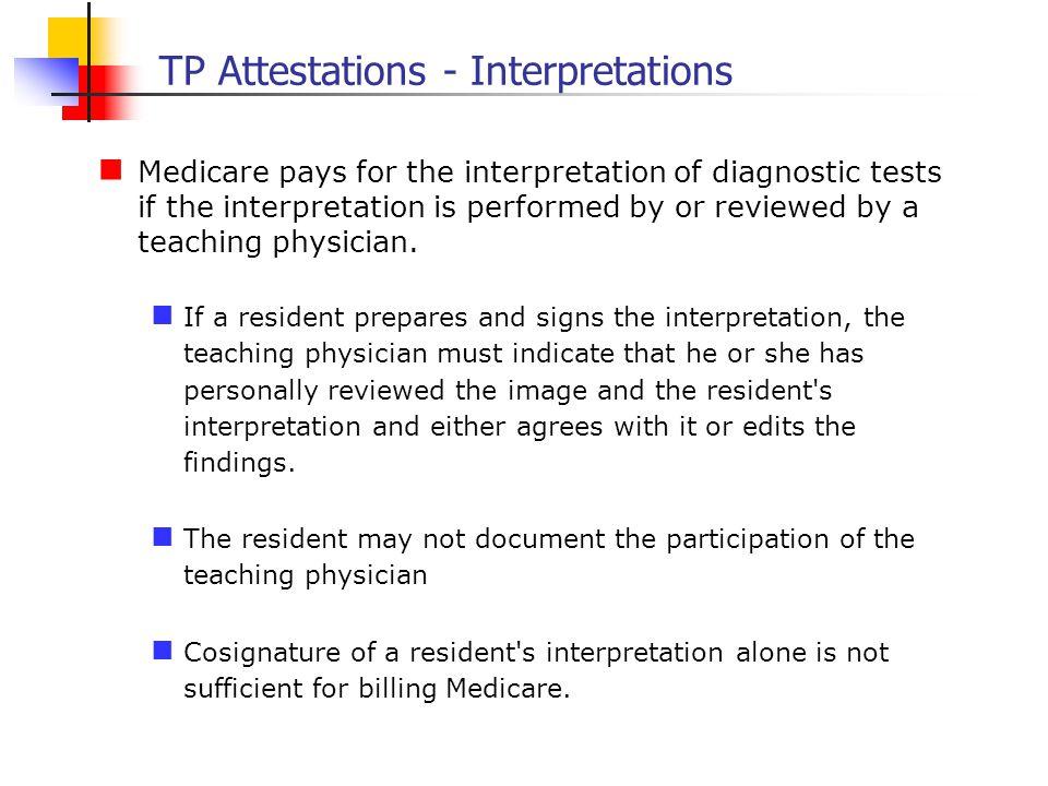 TP Attestations - Interpretations