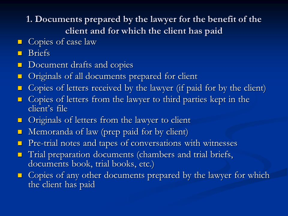 Document drafts and copies