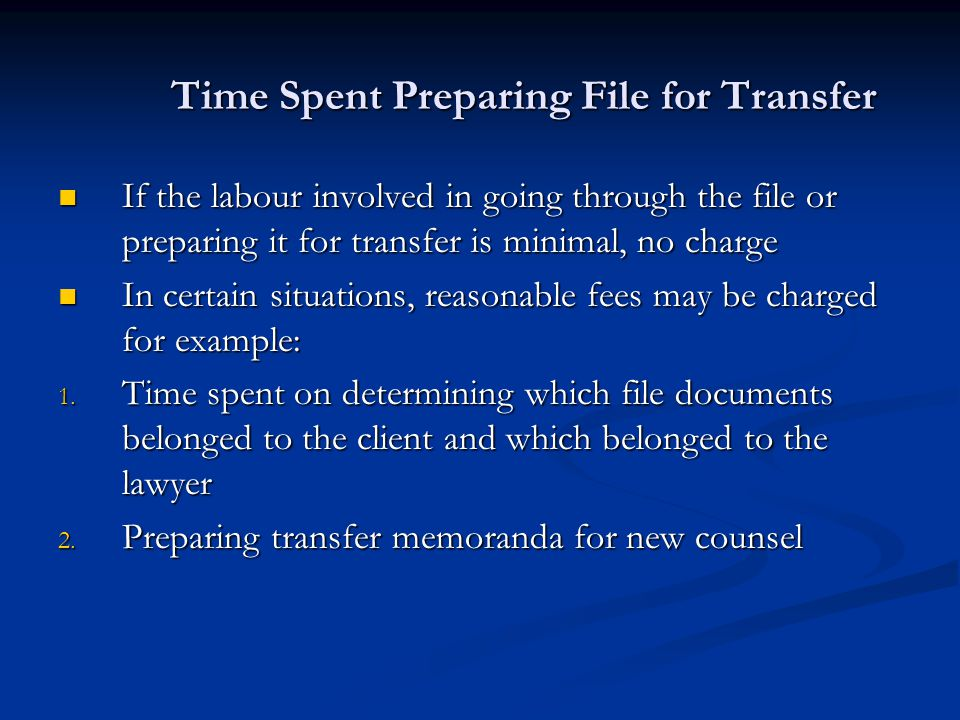 Time Spent Preparing File for Transfer