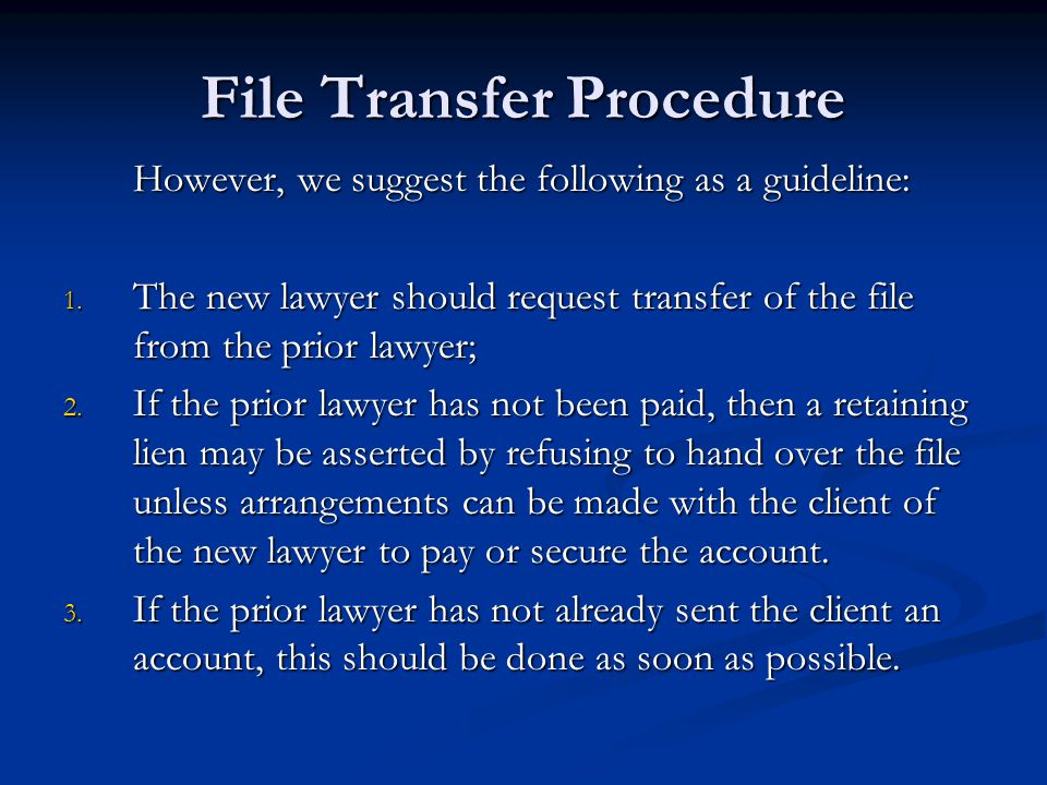File Transfer Procedure