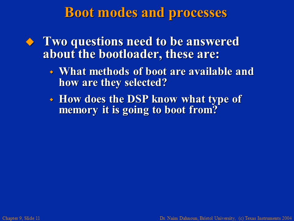 Boot modes and processes