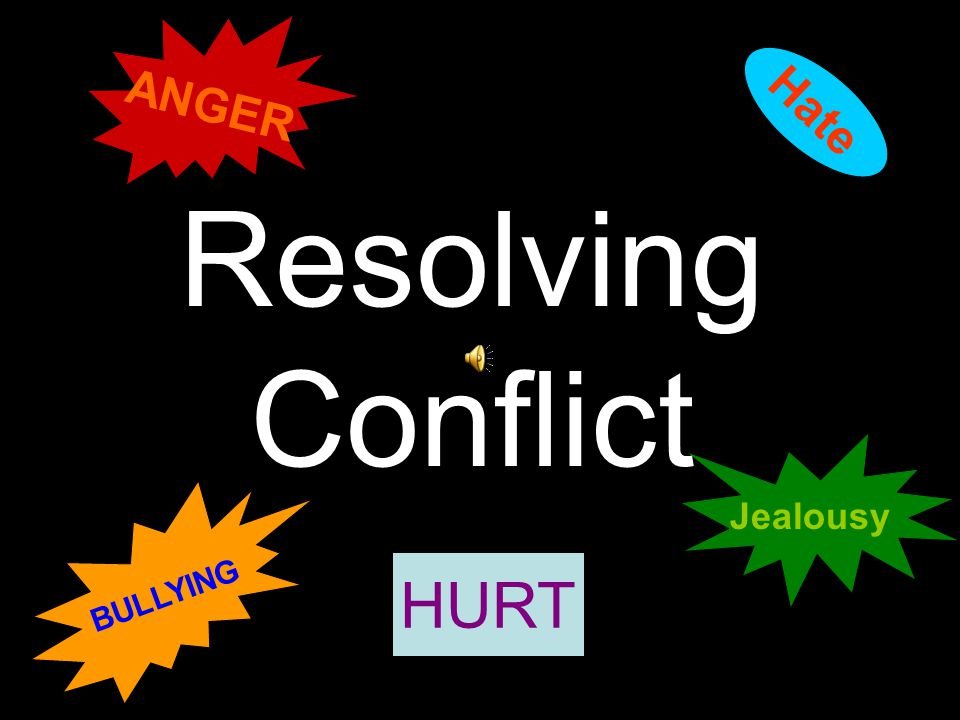 ANGER Hate Resolving Conflict Jealousy BULLYING HURT