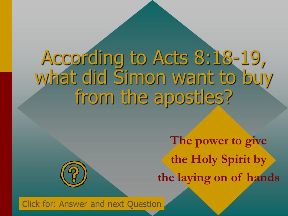 According to Acts 8:18-19, what did Simon want to buy from the apostles