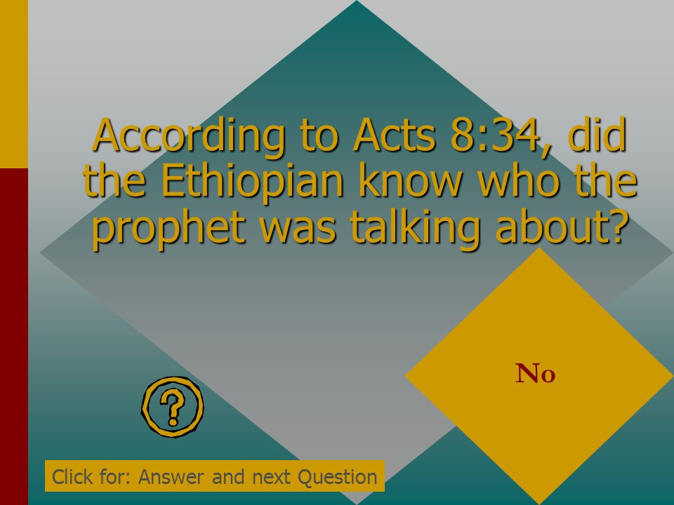 According to Acts 8:34, did the Ethiopian know who the prophet was talking about