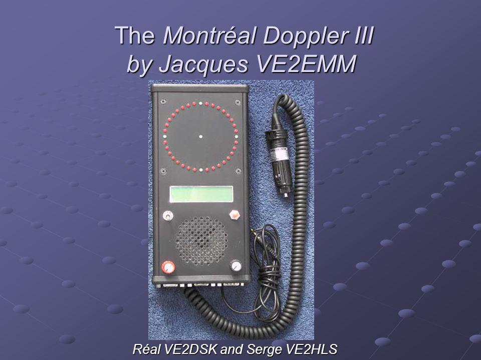 The Montréal Doppler III by Jacques VE2EMM
