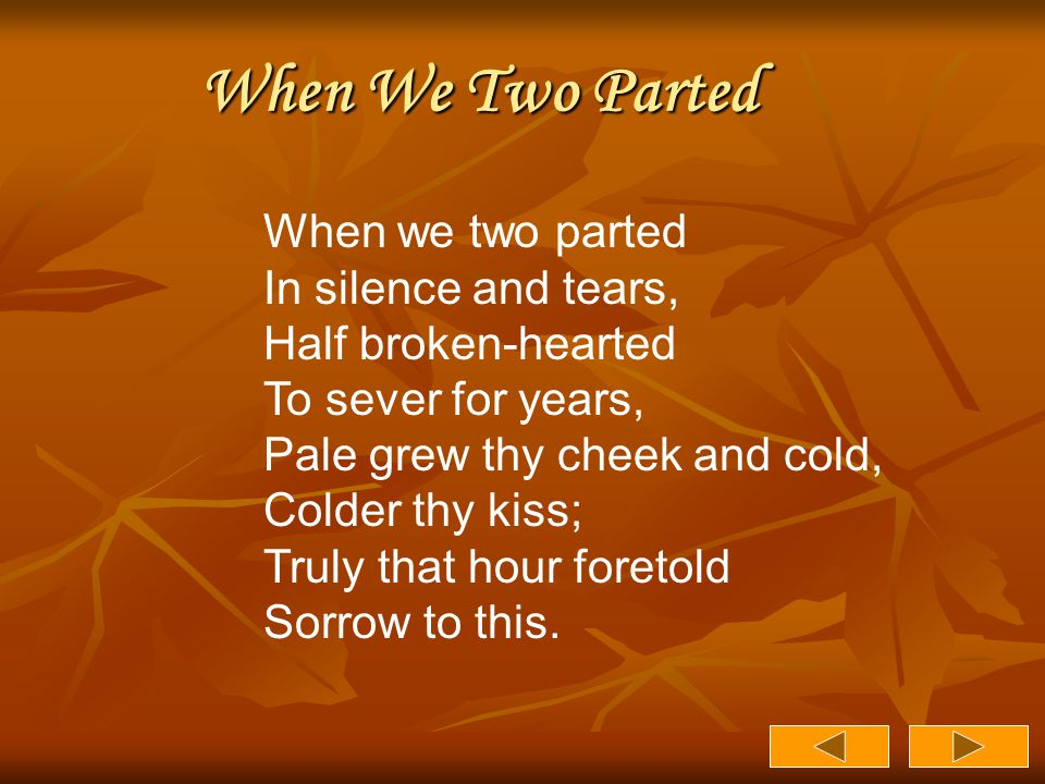When We Two Parted