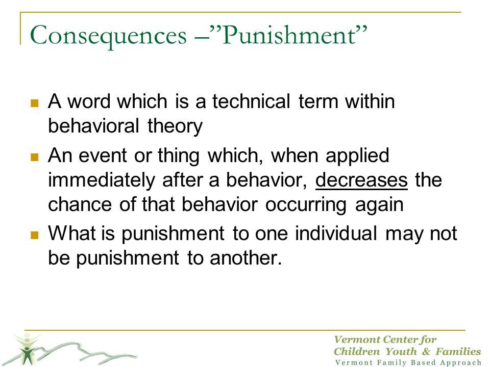 Consequences – Punishment