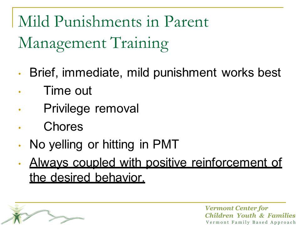 Mild Punishments in Parent Management Training