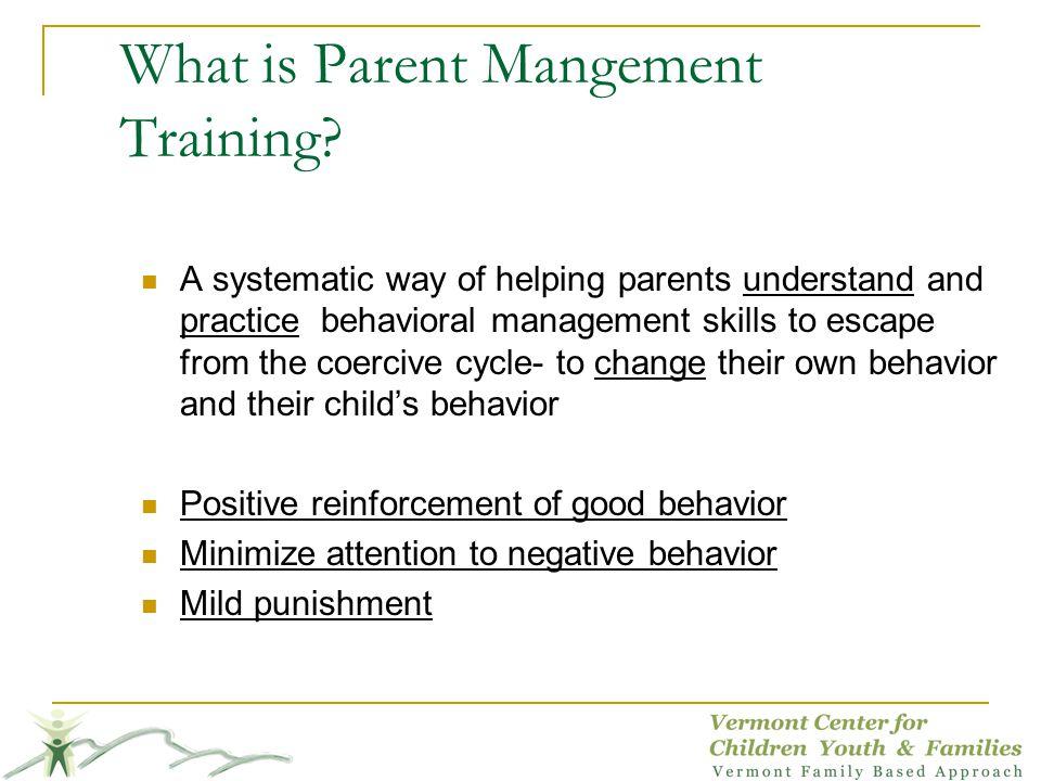 What is Parent Mangement Training