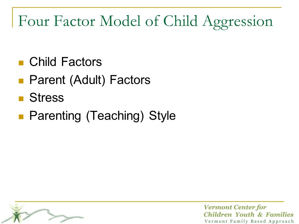 Four Factor Model of Child Aggression