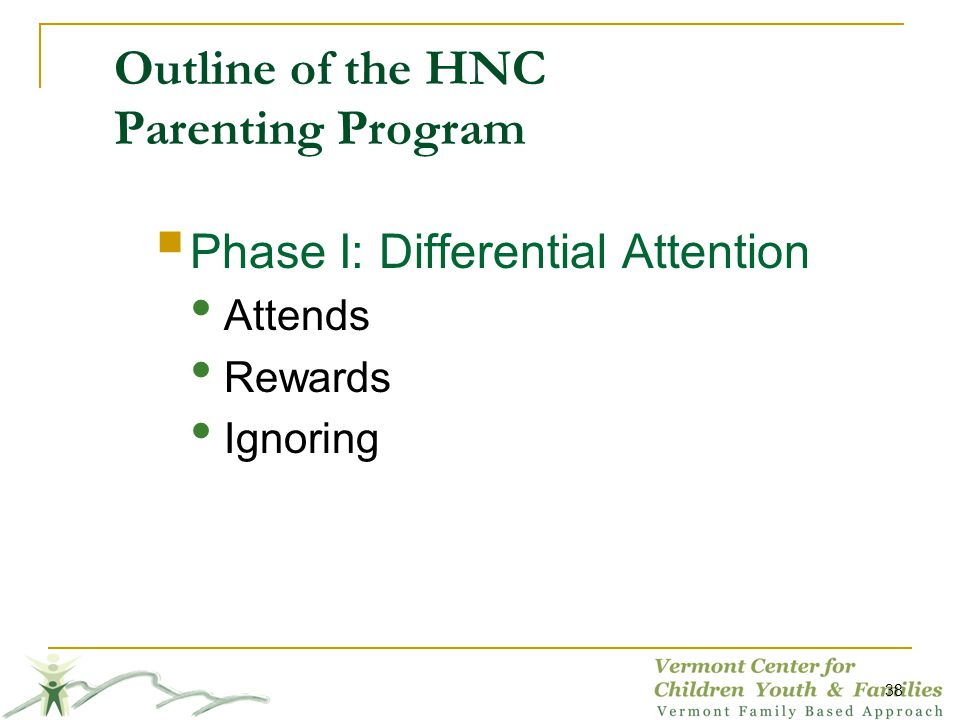 Outline of the HNC Parenting Program