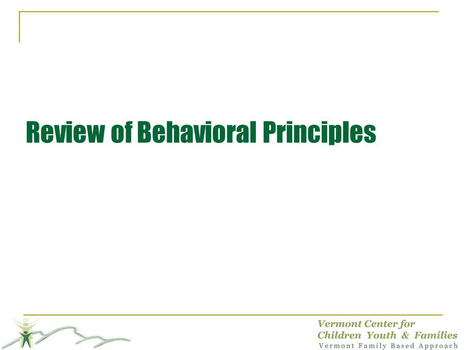 Review of Behavioral Principles