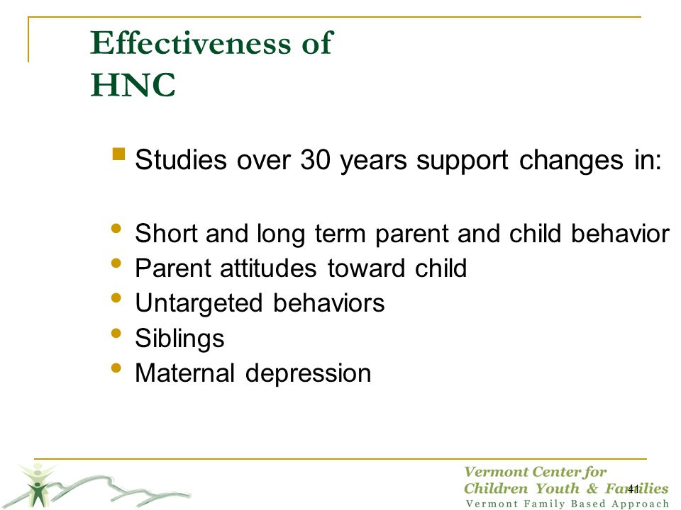 Effectiveness of HNC Studies over 30 years support changes in: