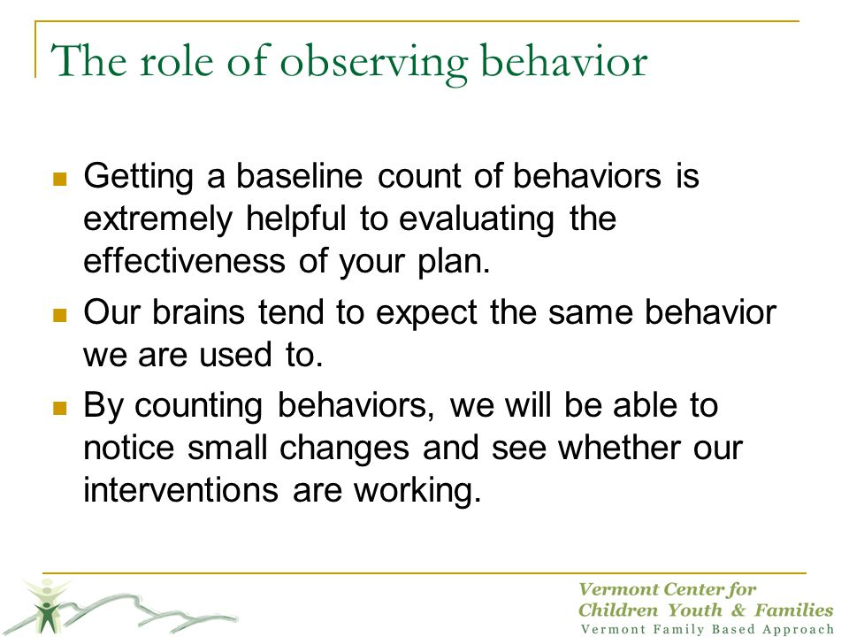 The role of observing behavior