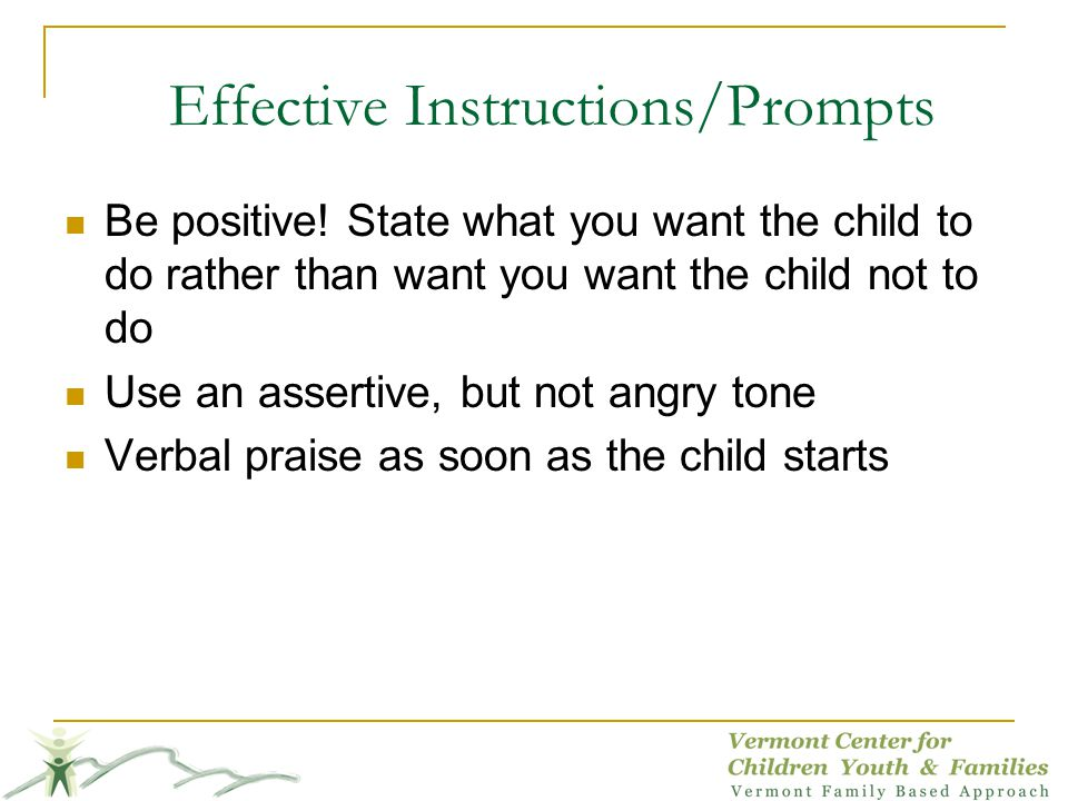 Effective Instructions/Prompts