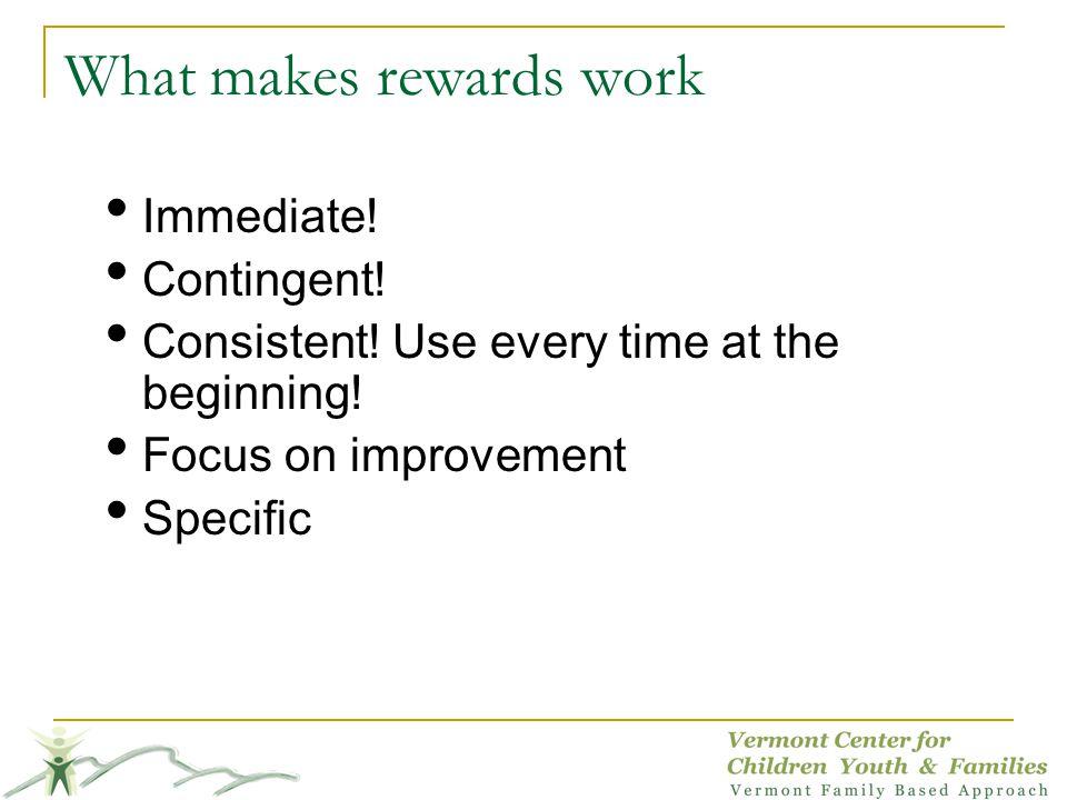 What makes rewards work