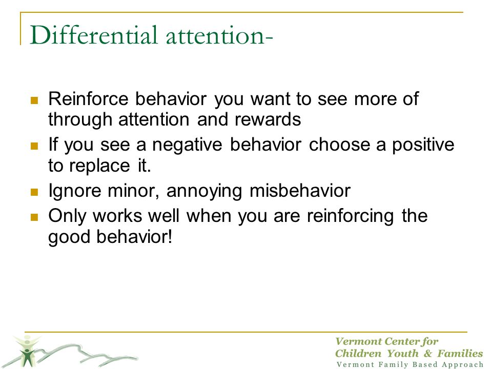 Differential attention-