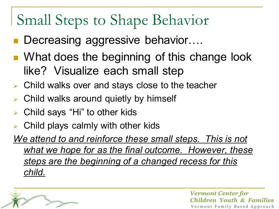 Small Steps to Shape Behavior