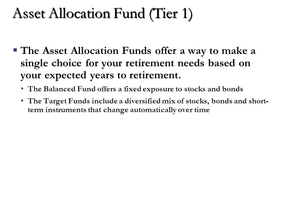 Core Funds (Tier 2)