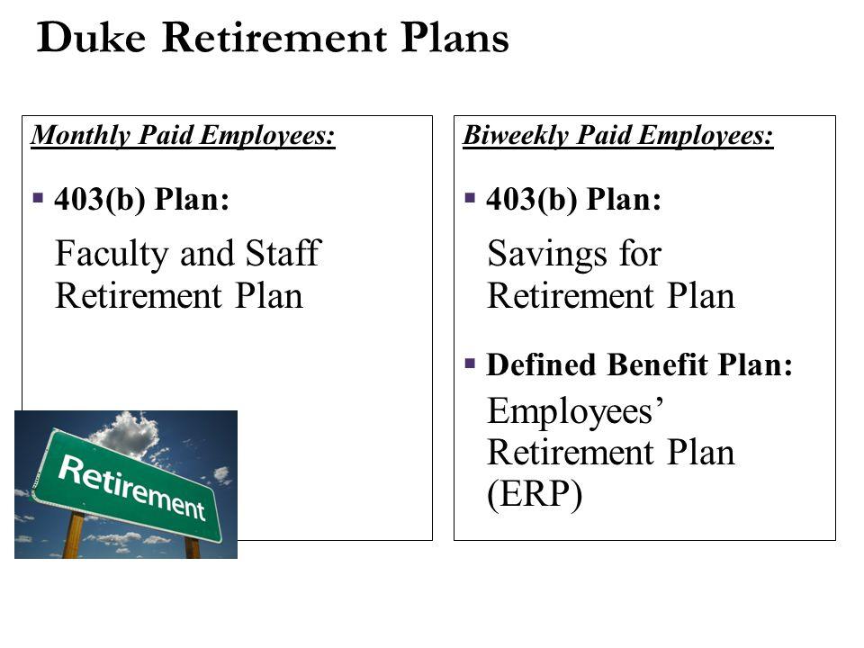 Duke Retirement Plans