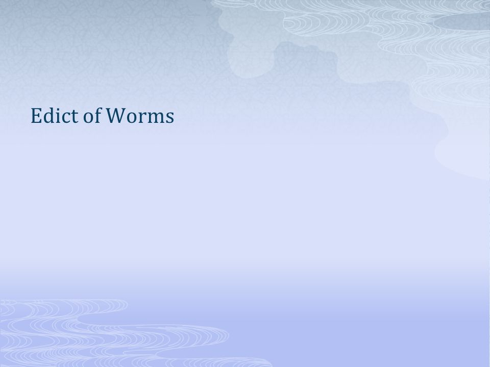 Edict of Worms