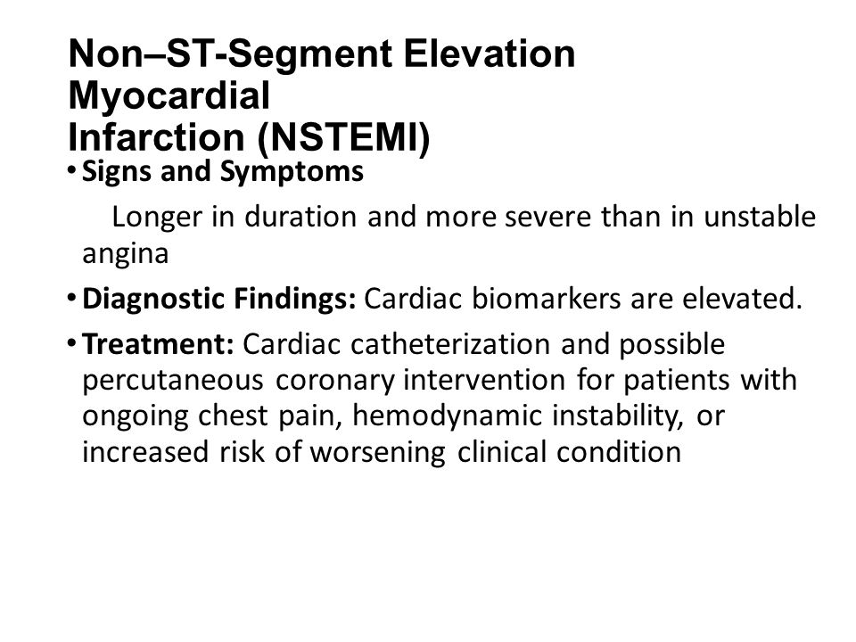 Non–ST-Segment Elevation Myocardial Infarction (NSTEMI)