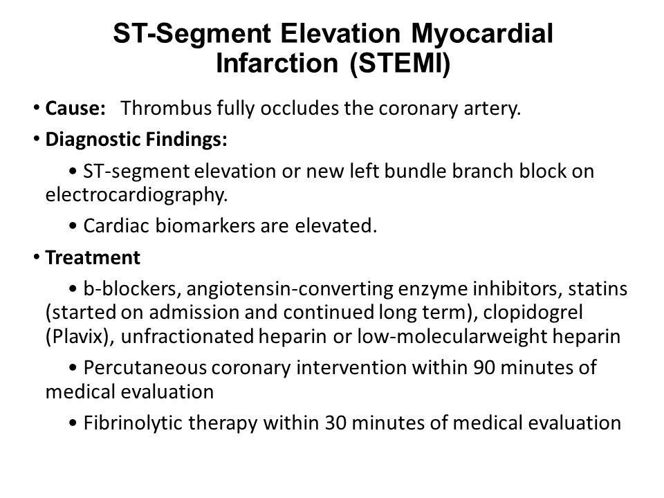 ST-Segment Elevation Myocardial Infarction (STEMI)