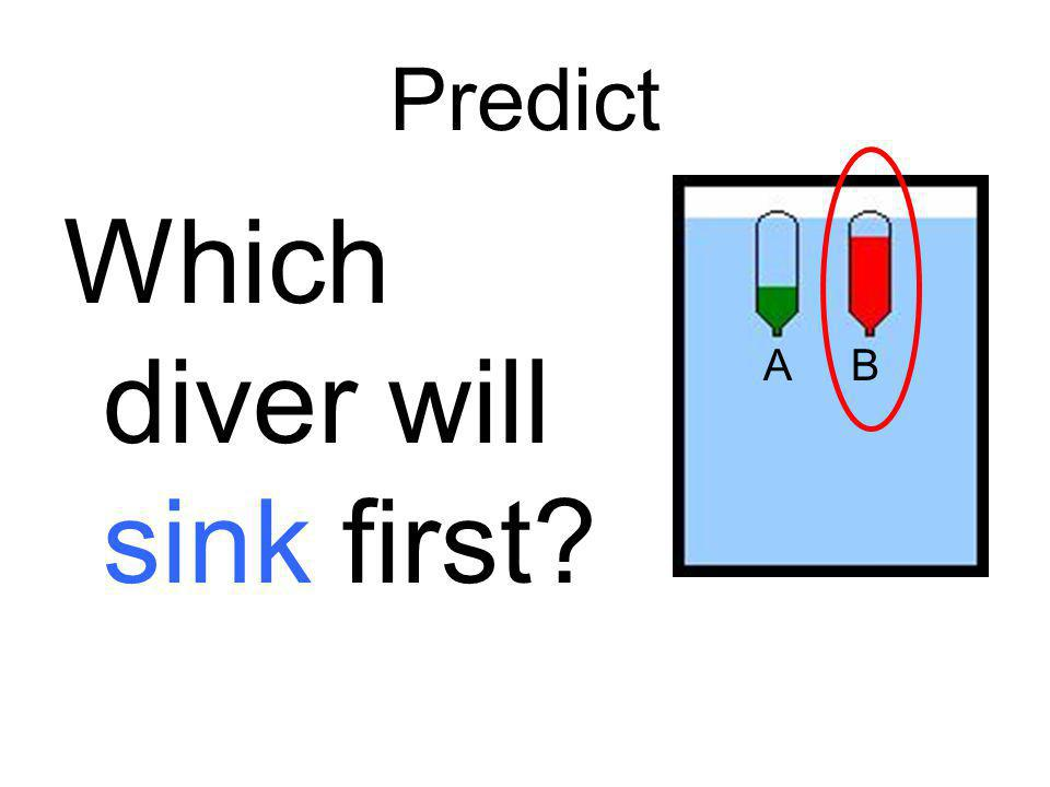 Which diver will sink first
