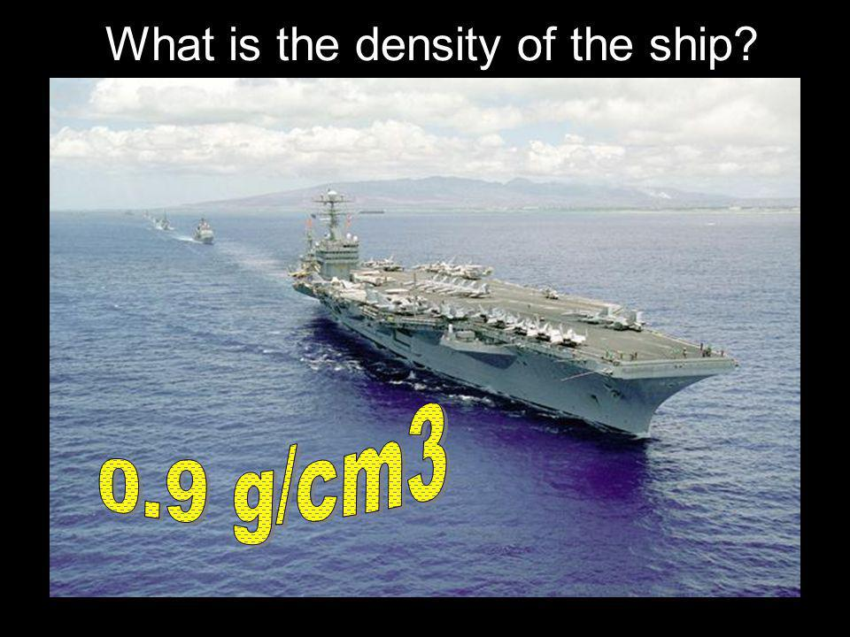 What is the density of the ship