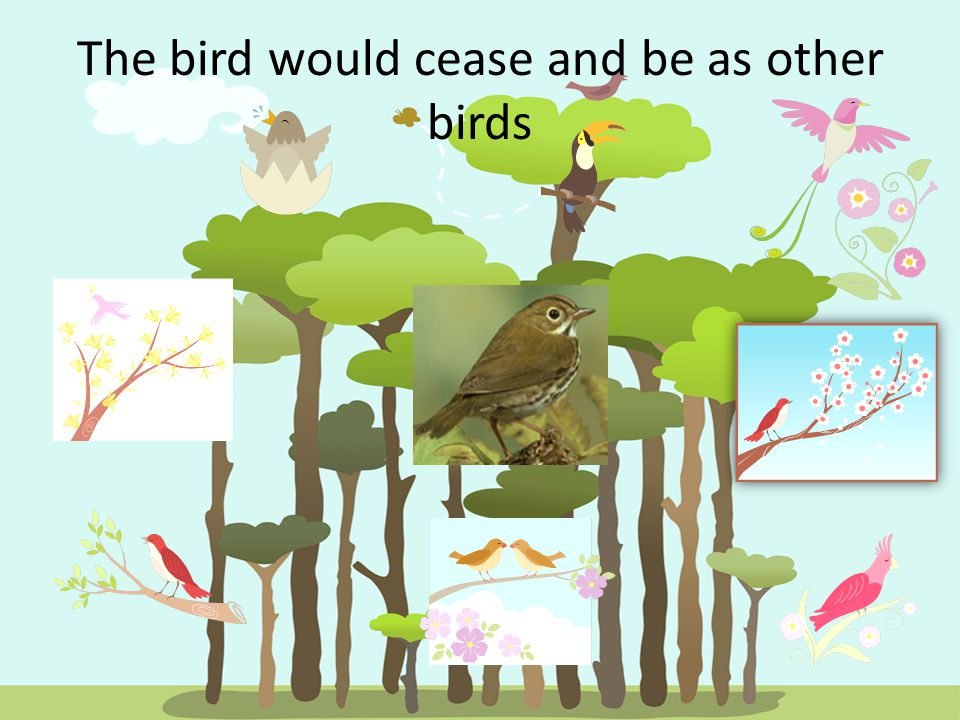 The bird would cease and be as other birds