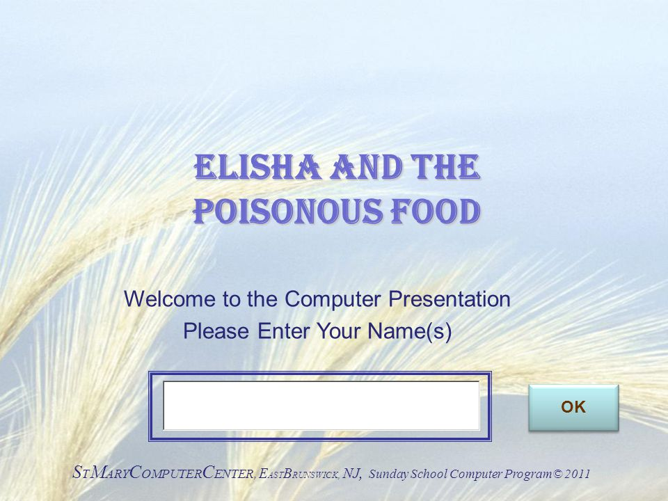 Elisha and the Poisonous Food