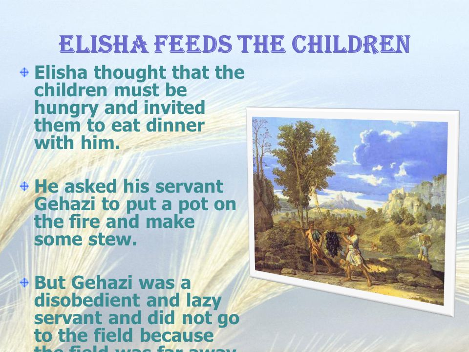 Elisha Feeds the Children