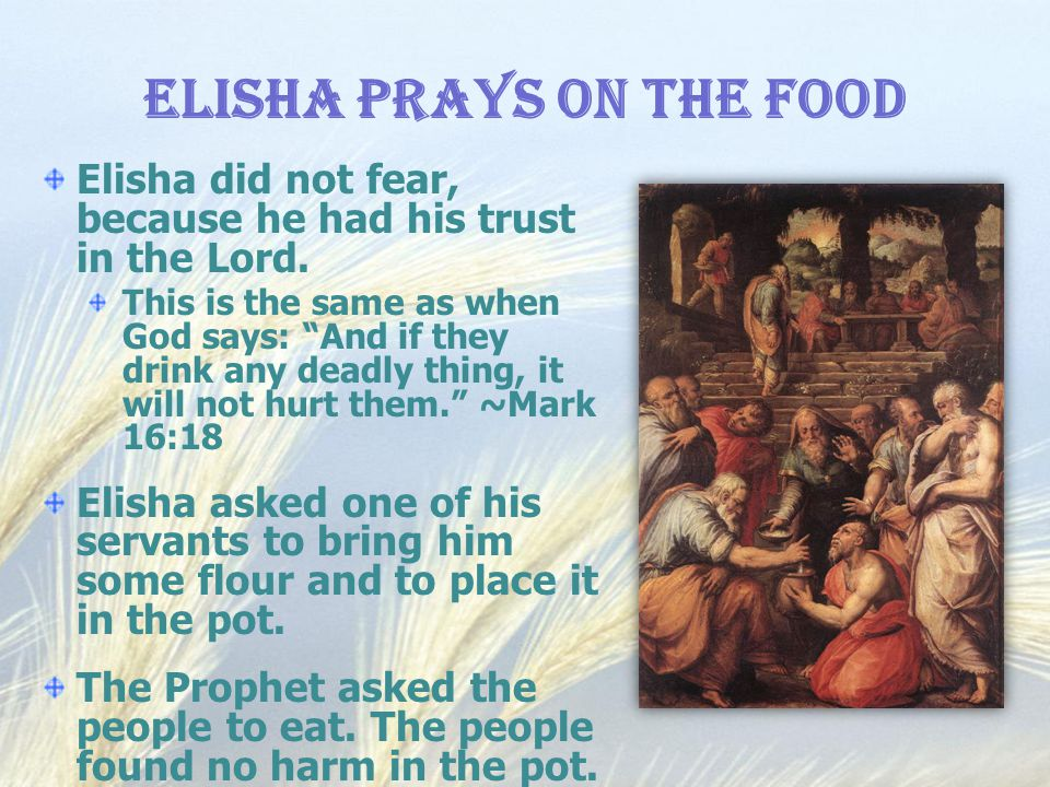 Elisha Prays on the Food