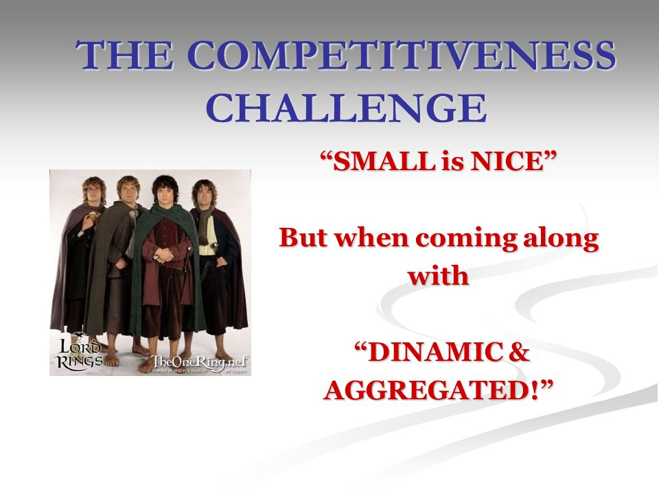 THE COMPETITIVENESS CHALLENGE