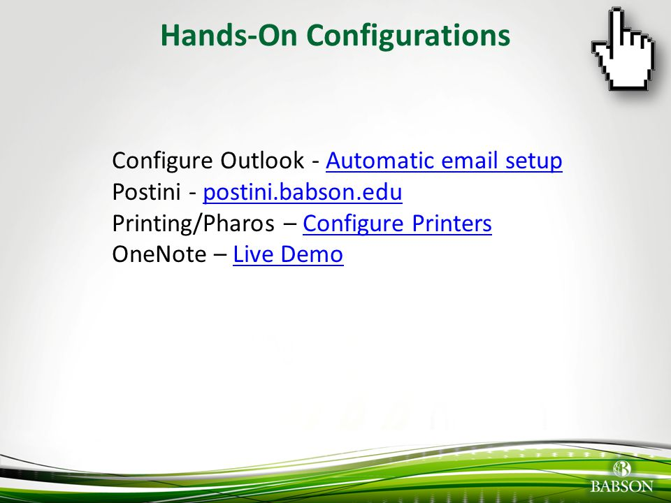 Hands-On Configurations