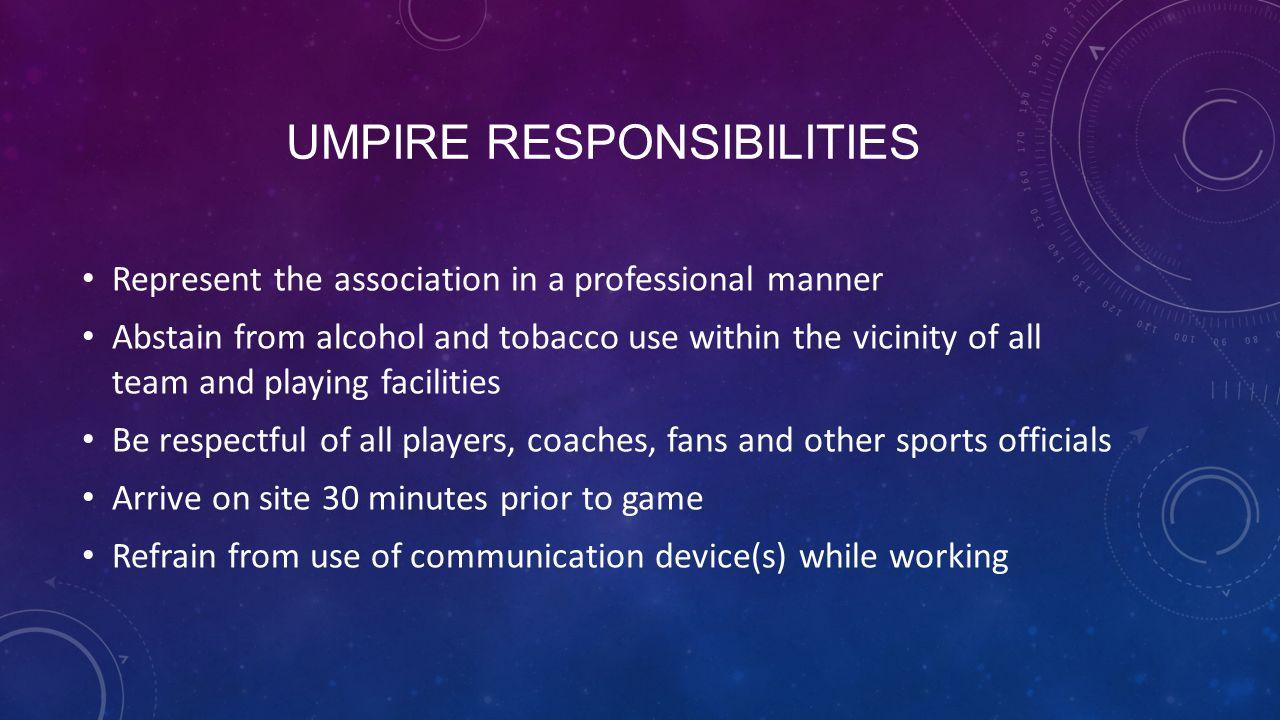 Umpire Responsibilities