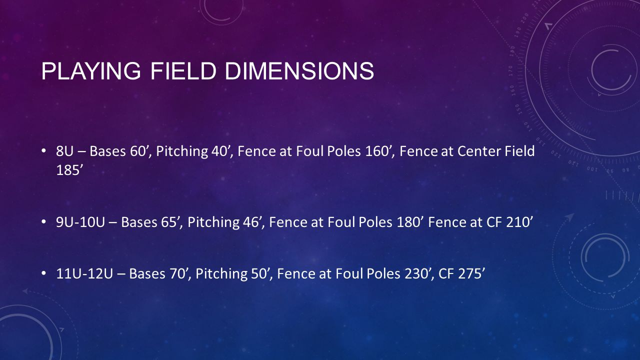 Playing Field Dimensions