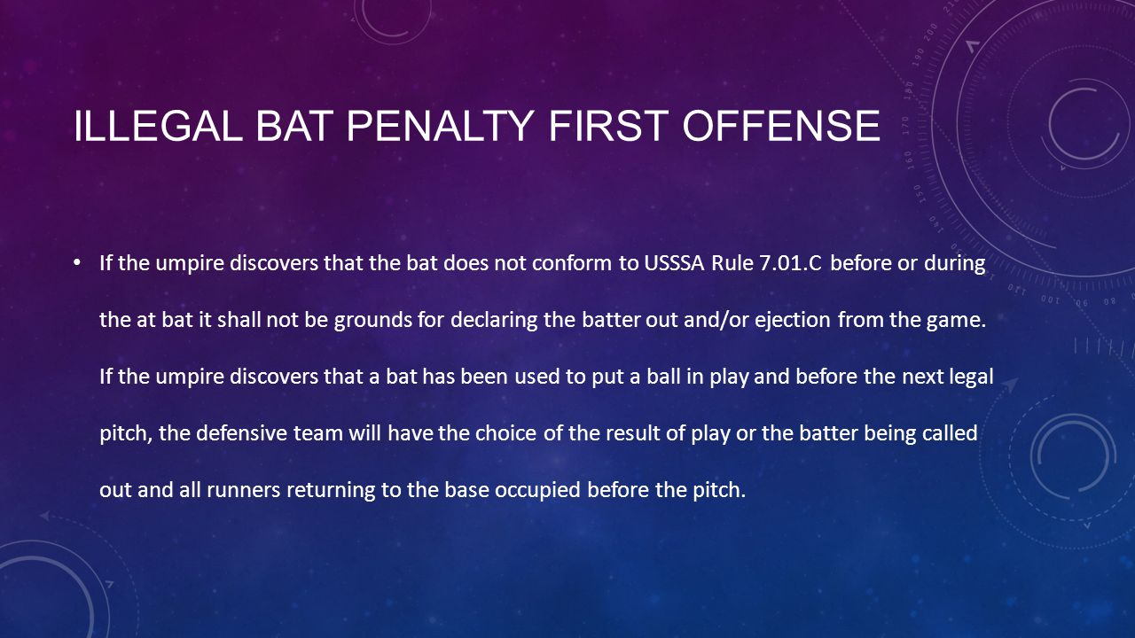 Illegal Bat Penalty First Offense