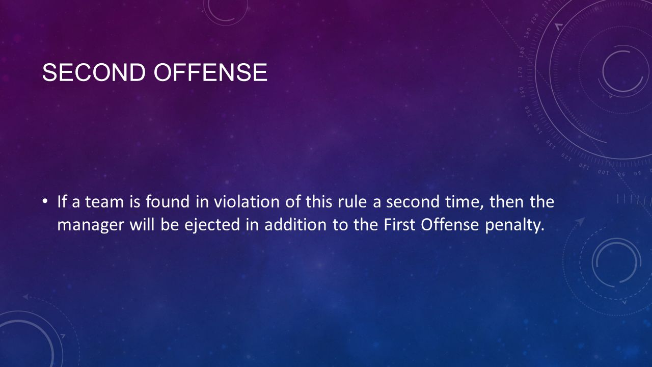 Second Offense